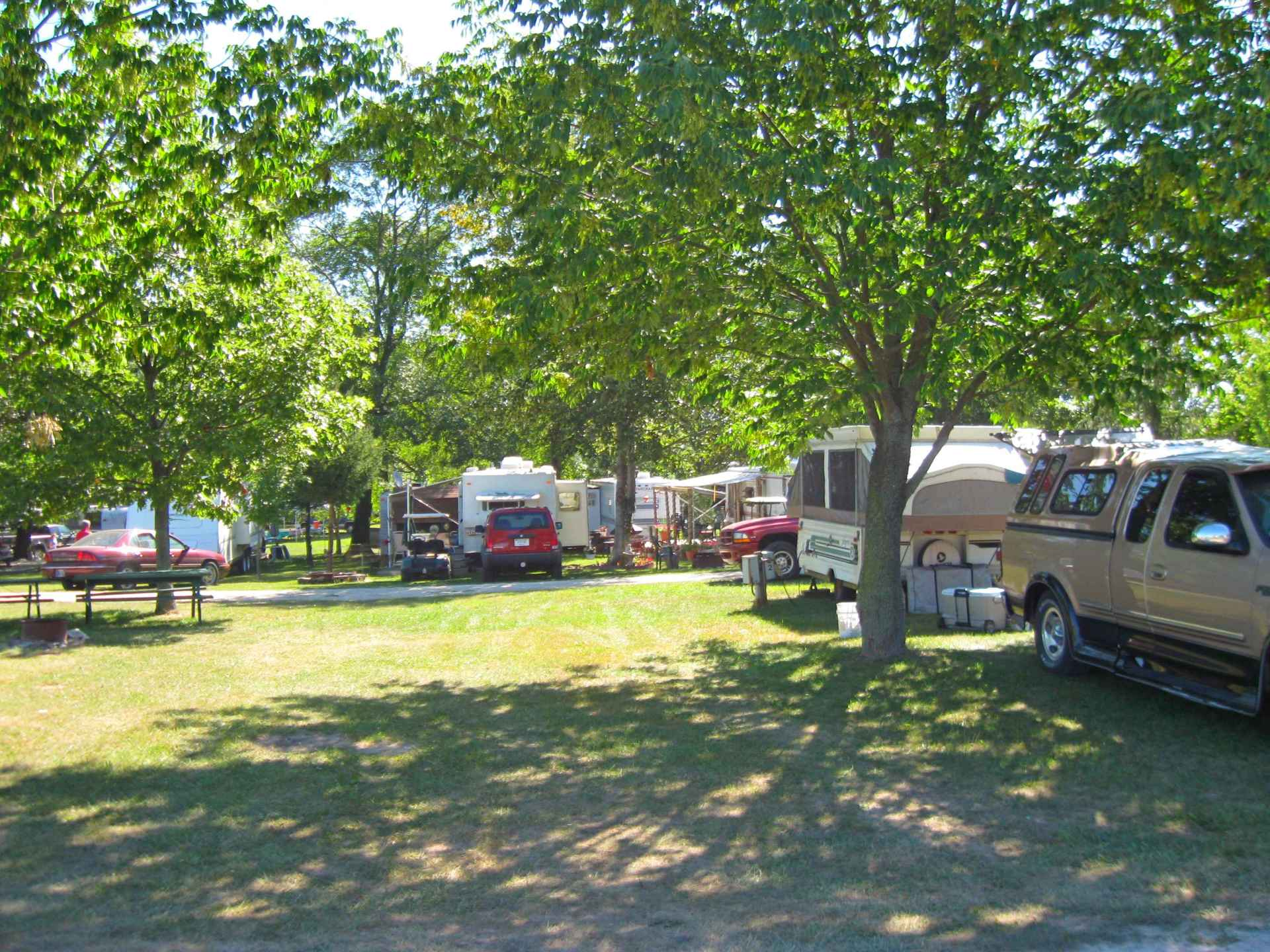 Image of campers set-up in campground
