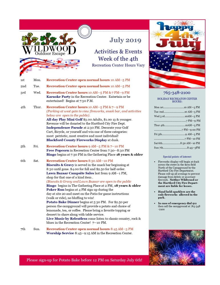 Image of Activities & events for fourth of july