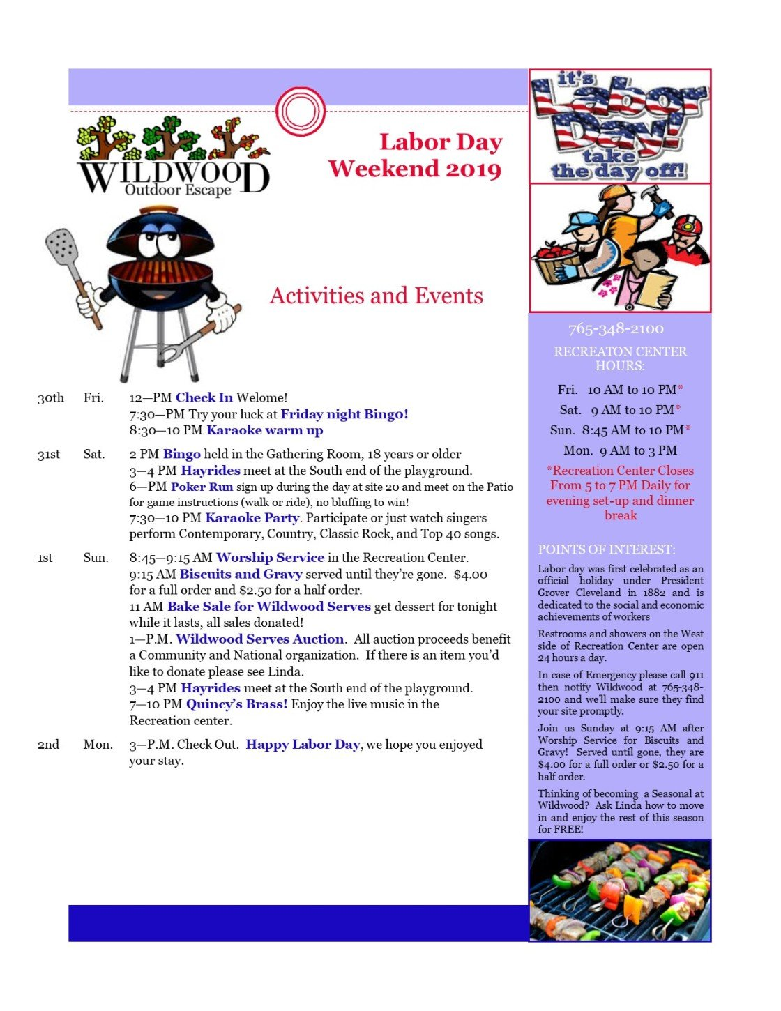 Image of activities & events for labor day weekend